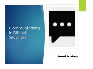 Communicating in Difficult Situations
